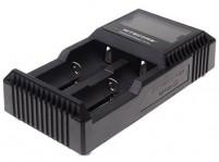 NITECORE D2 2-Slot Digital Battery Charger w/ LCD Display Screen