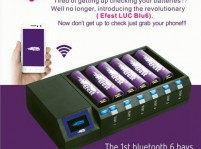 Efest LUC Blu6 OLED 6-Bay Intelligent Multi-Charger