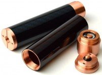 Copper + Carbon Fiber Fuhattan V2 18650 Mechanical Mod