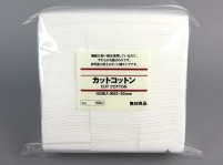 "MUJI 120 Pads White Cut Cotton (2.4x2.0"")"
