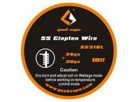 10ft SS316L 26GA+30GA Clapton Wire by Geek Vape