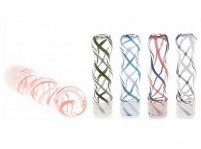 "1.5"" Ribbon Print Glass Drip Tip"