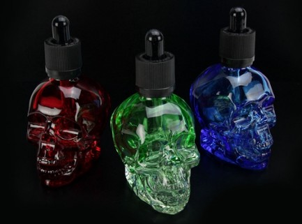 60mL Skull Shaped Glass Dropper Bottle