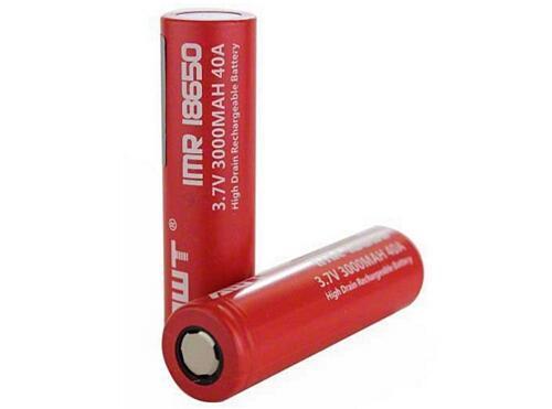 AWT IMR 18650 3000mAh 40A 3.7V Flat Top Battery