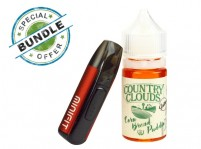 JUSTFOG MINIFIT Kit and Country Clouds Nicotine Salt 30mL E-Juice Bundle