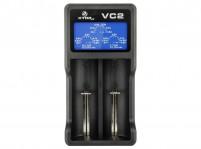 XTAR VC2 2-Bay LCD Screen USB Digital Li-ion/Ni-MH Battery Charger